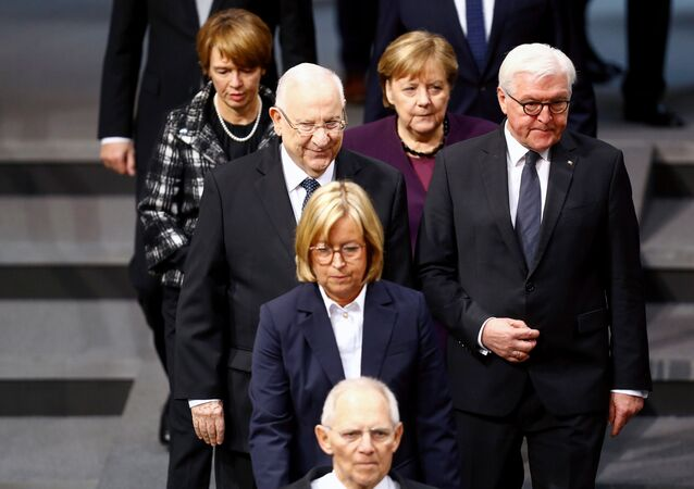 Presidente israeliano Reuven Rivlin al Bundestag