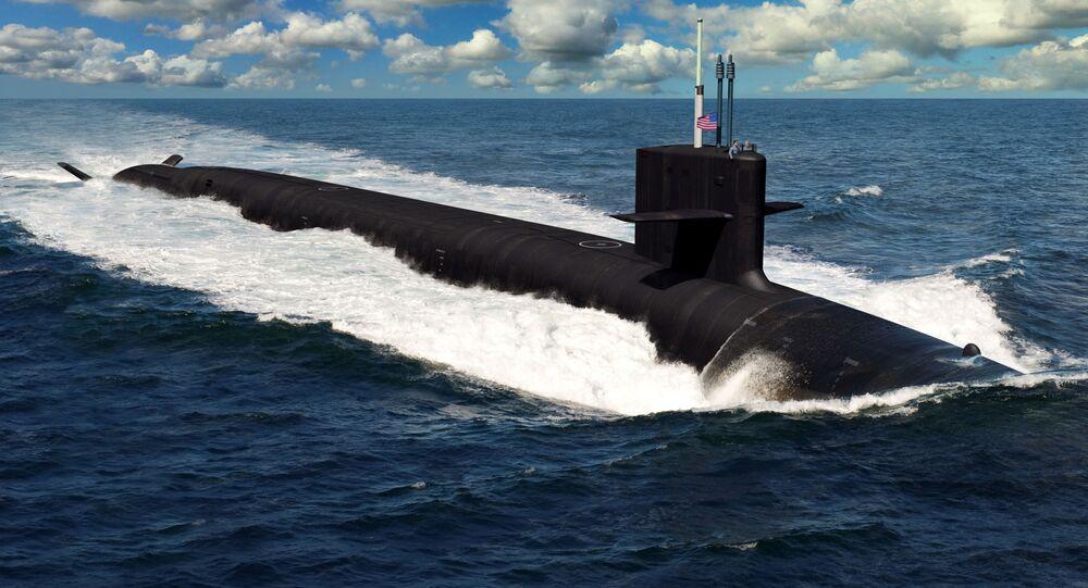 L'illustrazione del sottomarino futuro statunitense di classe Columbia