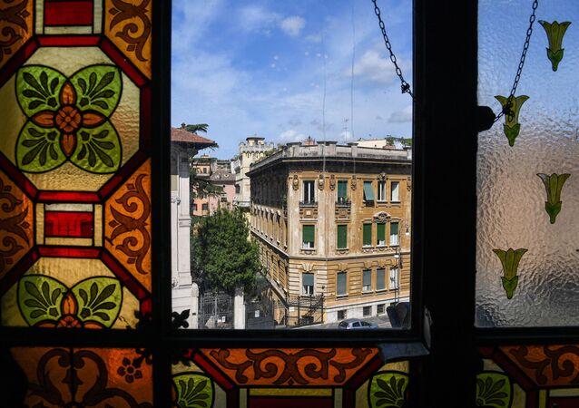 La vista dal Tempio Maggiore, la principale sinagoga di Roma