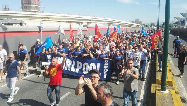 Manifestazione degli operai dello stabilimento Whirlpool di Napoli - Sputnik Italia