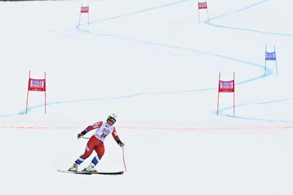 L'arrivo dell'atleta russa Yulia Pleshkova sulla pista olimpica di Rosa Khutor - Sputnik Italia