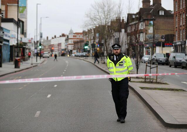 Polizia sul luogo dell'attentato a Londra, 2 febbraio 2020