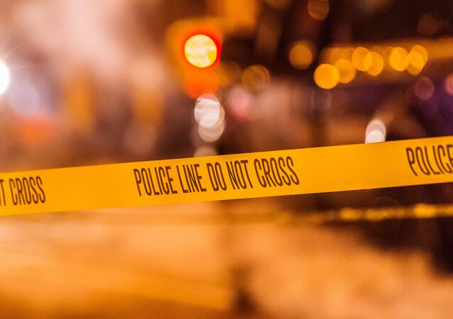 Nastro giallo della polizia americana