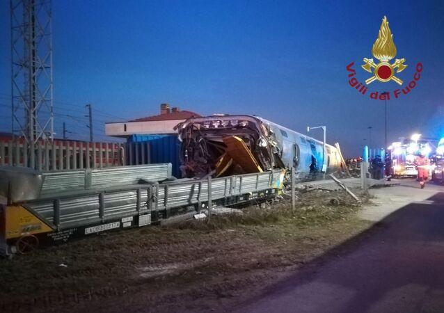 Deragliamento del treno ad alta velocità a Lodi.