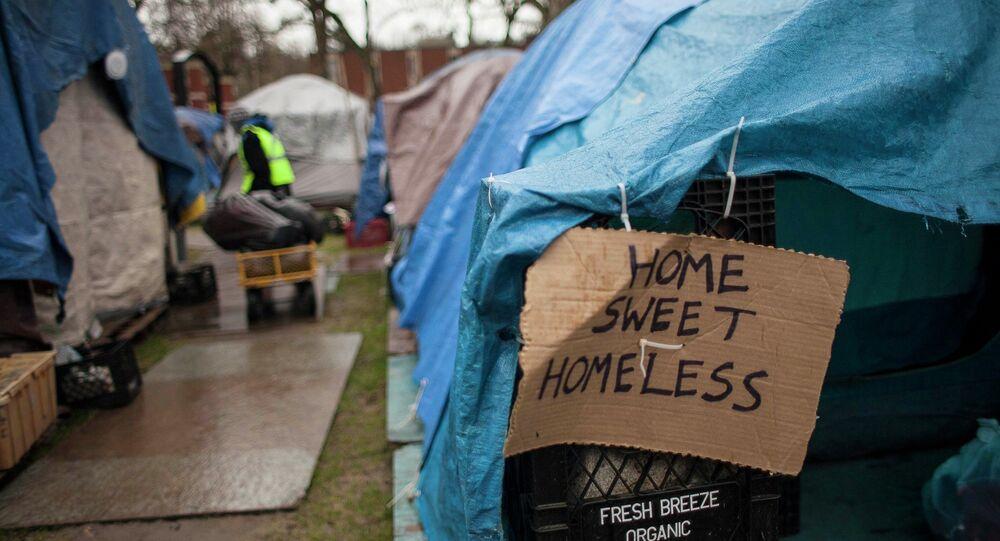 Persone senzatetto a Seattle