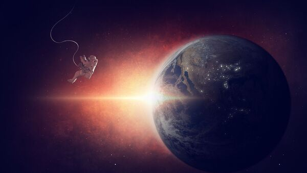 Astronauta perso nello Spazio - immagine metaforica - Sputnik Italia