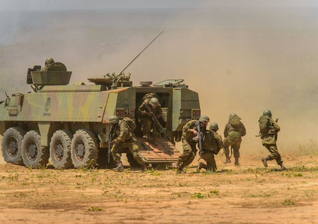 Esercito brasiliano durante operazione militare