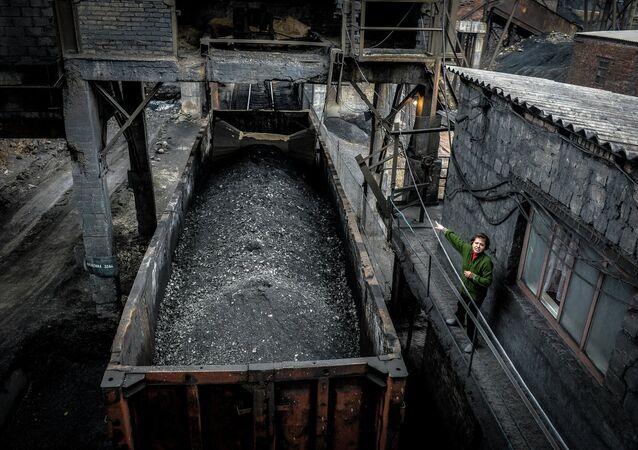 Miniera di carbone nel Donbass