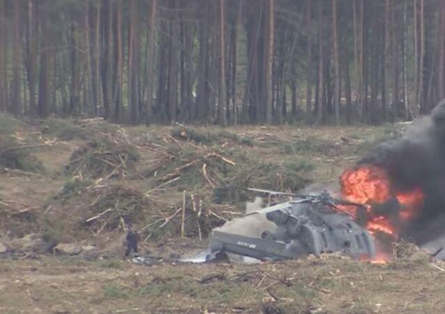 Crollo di un elicottero