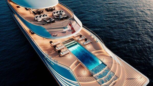 Aqua, un modello futuristico di yacht alimentato ad idrogeno - Sputnik Italia