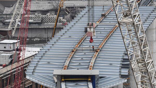La costruzione del nuovo ponte a Genova - Sputnik Italia