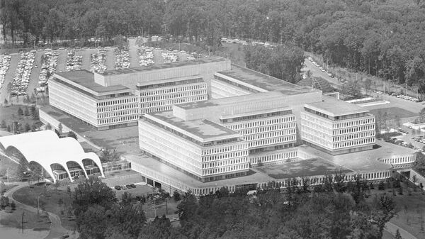 This is a general view of the new headquarters of the Central Intelligence Agency, CIA, at Langley, Virginia, on July 10, 1962. - Sputnik Italia