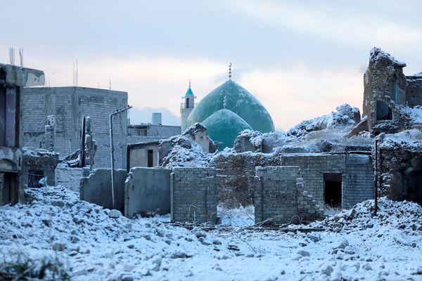 La città vecchia di Mosul innevata, Iraq - Sputnik Italia
