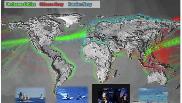 Pentagono pubblica mappa dell'attività delle Marine russa e cinese negli oceani - Sputnik Italia