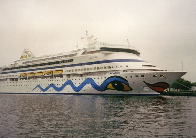 Nave da crociera Aida Vita, battente bandiera italiana e operata dalla società tedesca AIDA