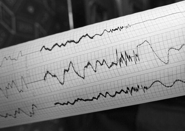 Sismografo di terremoto