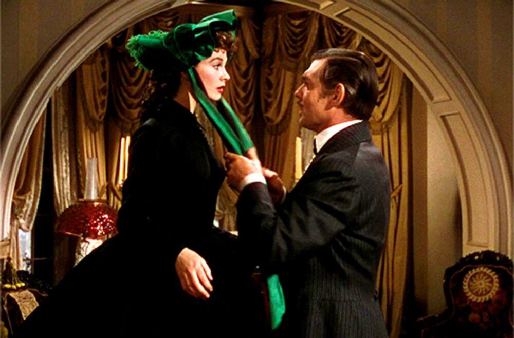 Vivien Leigh e Clark Gable nel film Via col vento, 1939