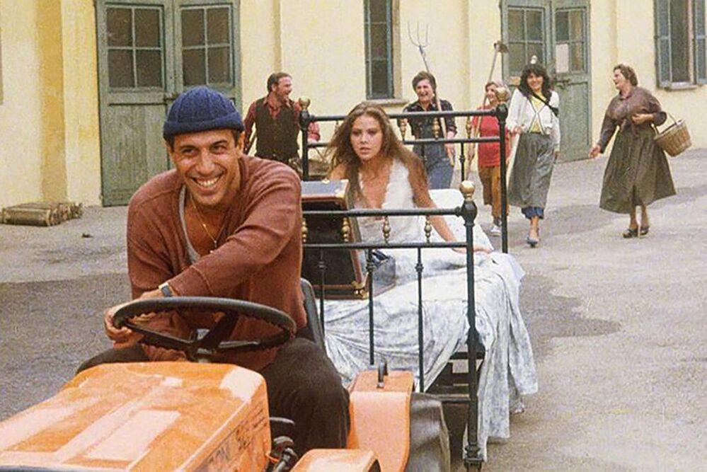 Ornella Muti e Adriano Celentano nel film Il bisbetico domato, 1980