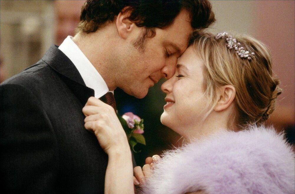 Renée Zellweger e Colin Firth nel film Il diario di Bridget Jones, 2001