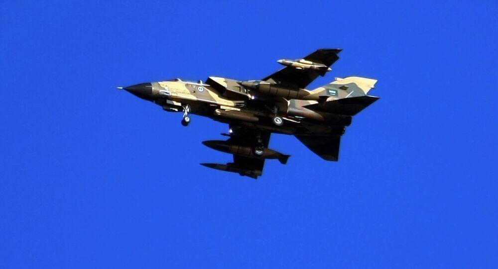 Un aereo da guerra Tornado saudita