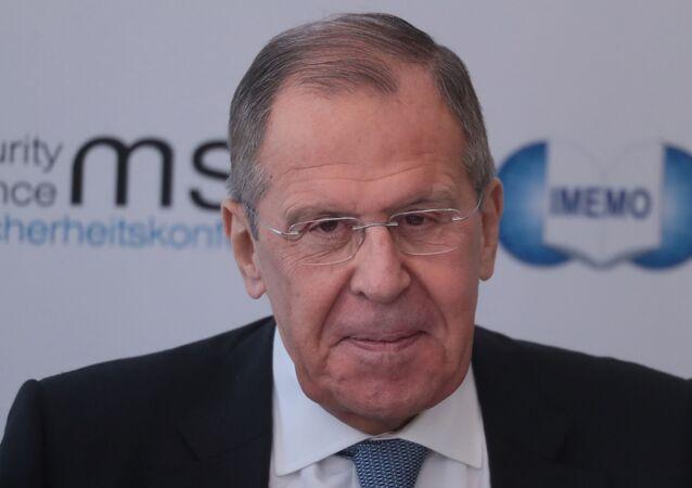 Sergey Lavrov alla Conferenza sulla Sicurezza di Monaco di Baviera