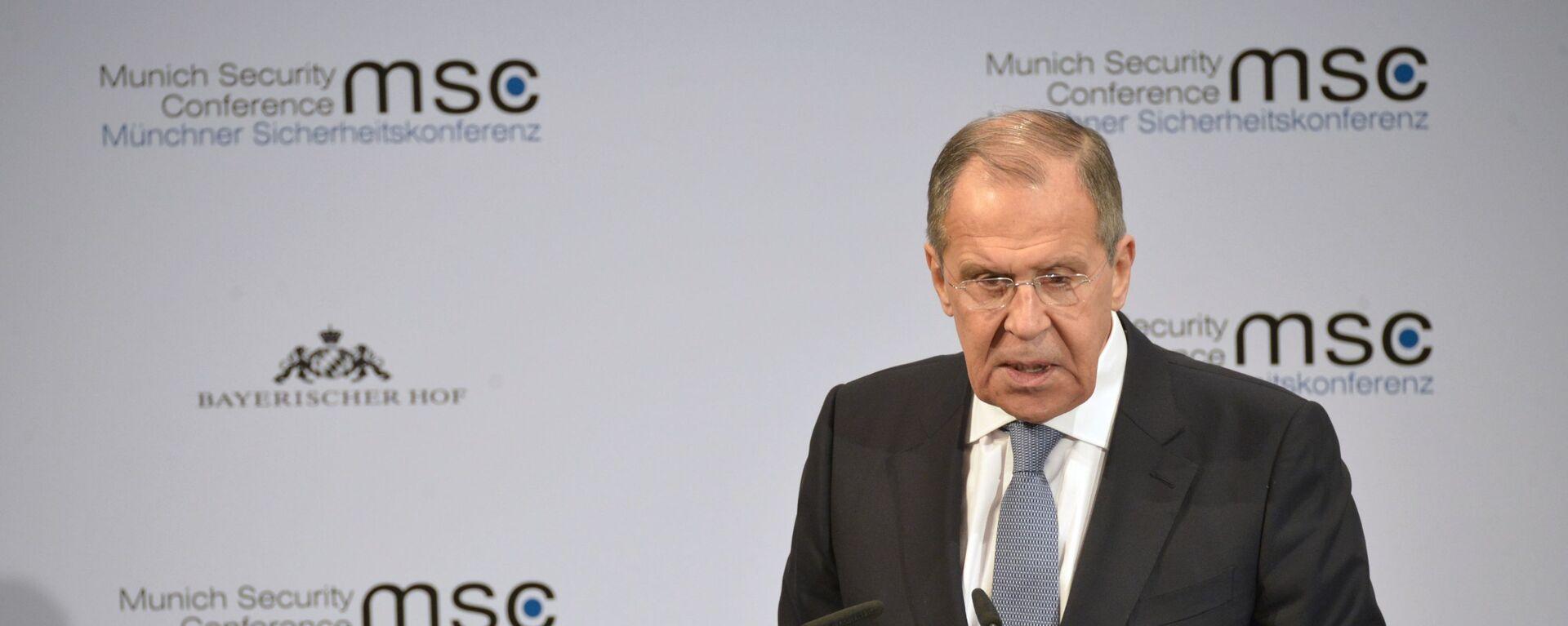 Sergey Lavrov alla Conferenza sulla Sicurezza di Monaco di Baviera - Sputnik Italia, 1920, 25.08.2021