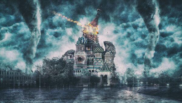 Cattedrale di San Basilio a Mosca (proiezione di post-apocalisse) - Sputnik Italia