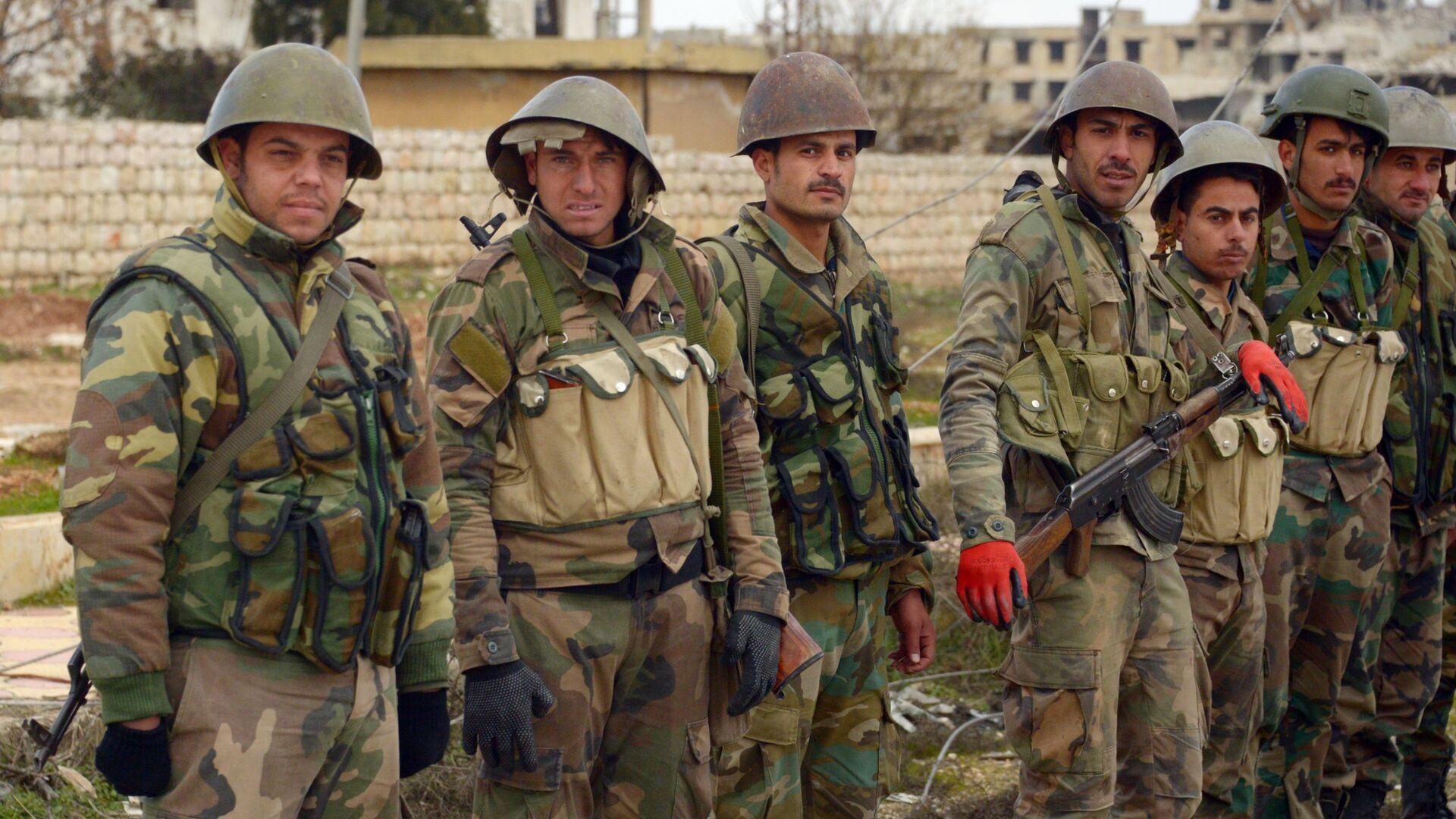 Militari dell'esercito siriano - Sputnik Italia, 1920, 08.09.2021