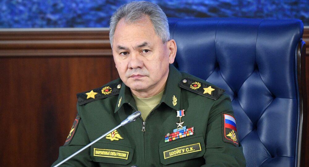 Il ministro della Difesa russo Sergey Shoigu