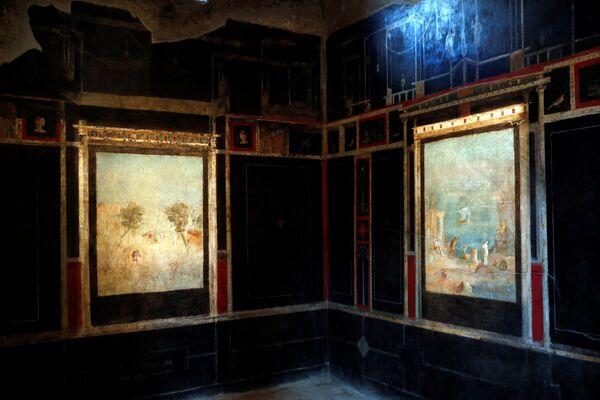 Degli affreschi nella Casa del Frutteto a Pompei. - Sputnik Italia