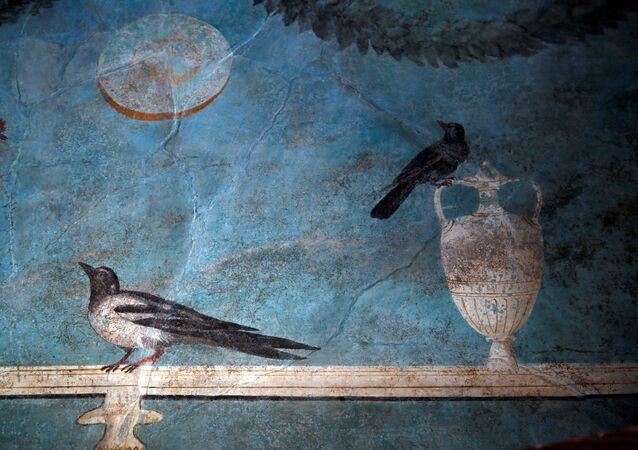 Un affresco nella Casa del Frutteto a Pompei.