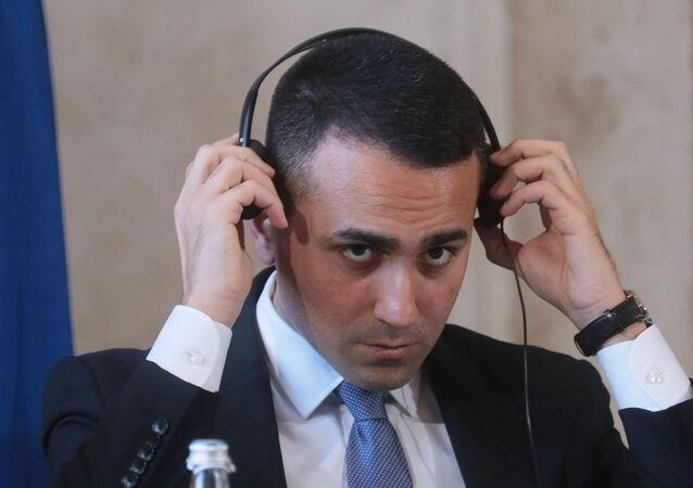 Il ministro degli Esteri italiano Luigi di Maio durante l'incontro bilaterale in formato 2+2 Italia-Russia