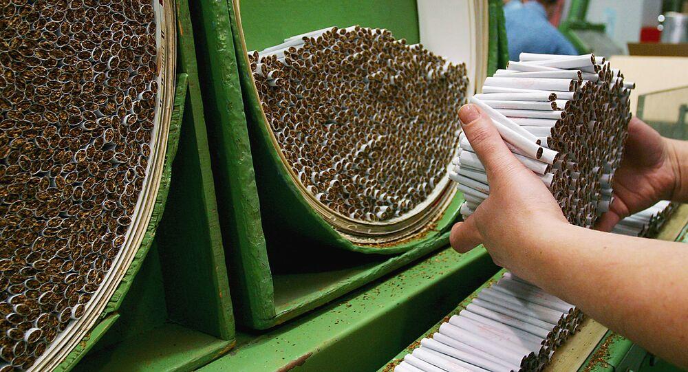 Produzione di sigarette (foto d'archivio)