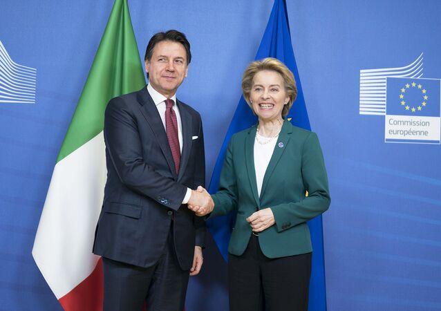Il Presidente del Consiglio, Giuseppe Conte, incontra a Palazzo Berlaymont la Presidente della Commissione europea Ursula von der Leyen.