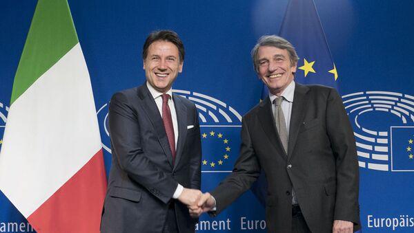 Il Presidente del Consiglio, Giuseppe Conte, incontra il Presidente del Parlamento europeo, David Sassoli - Sputnik Italia