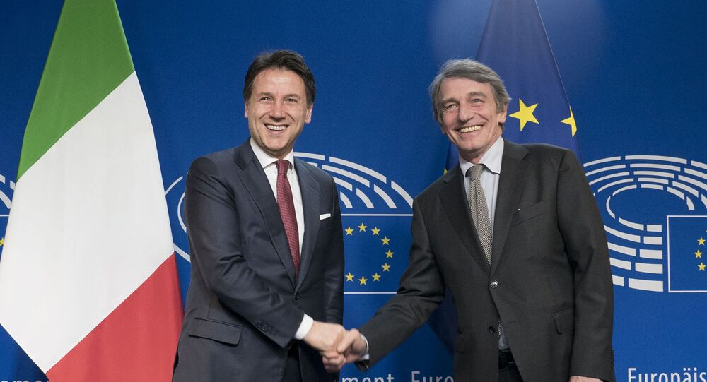Il Presidente del Consiglio, Giuseppe Conte, incontra il Presidente del Parlamento europeo, David Sassoli.