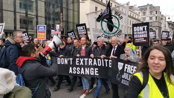 March in Support of Assange Continues in London - Sputnik Italia