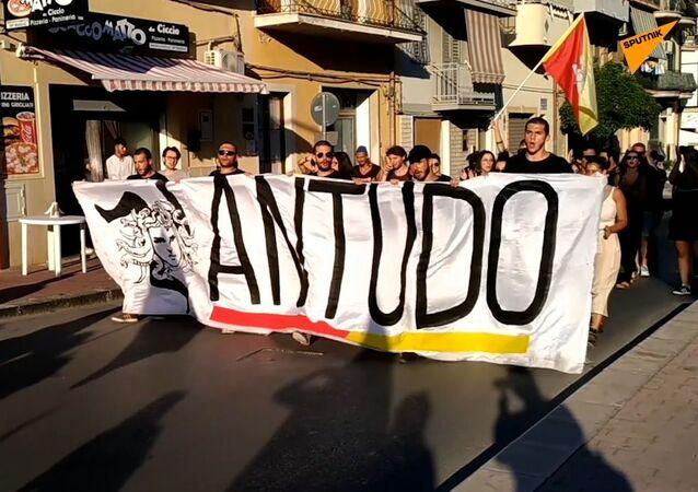 Antudo a Palermo: referendum per l'indipendenza della Sicilia