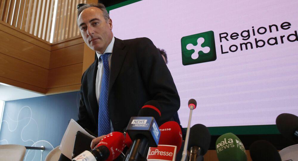 L'assessore al Welfare in Lombardia Giulio Gallera