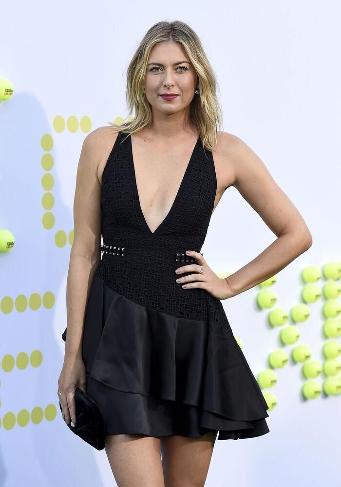 Maria Sharapova alla prima del film La battaglia dei sessi a Los Angeles.