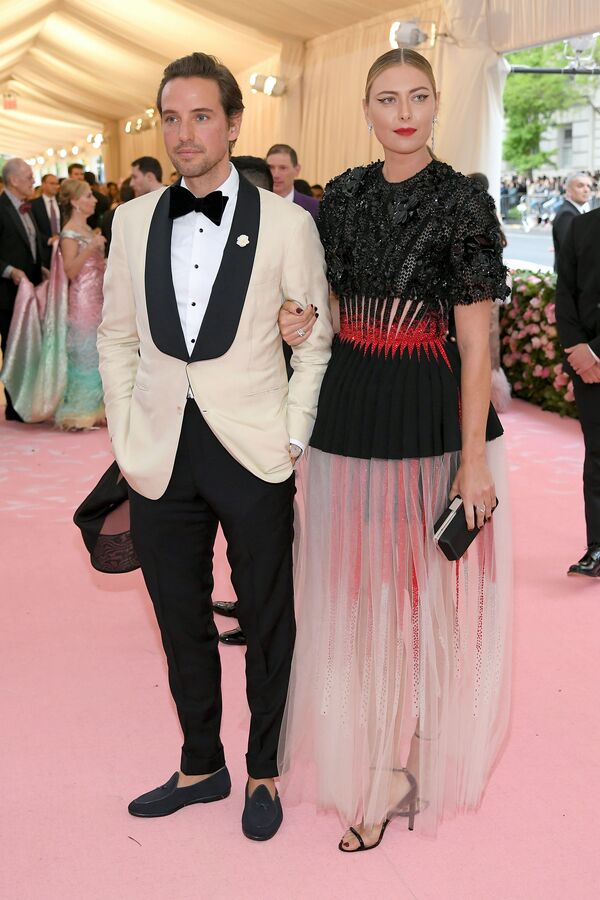Maria Sharapova con il boyfriend Alexander Gilkes a Met Gala Celebrating Camp 2019. - Sputnik Italia