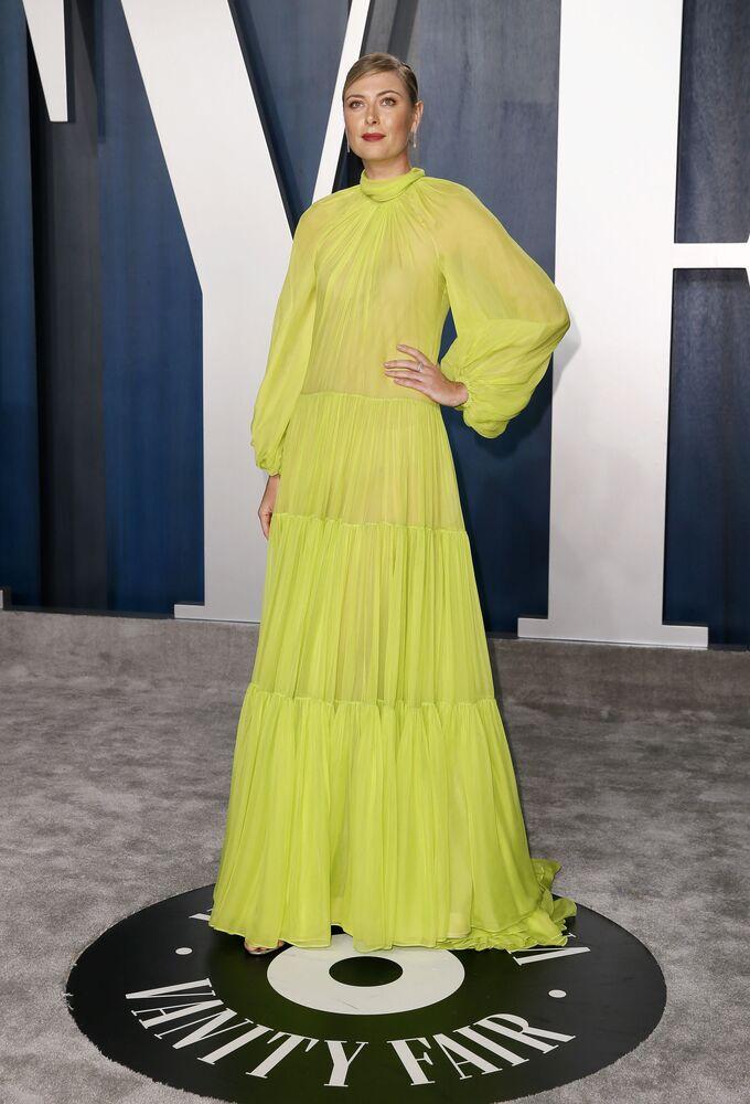 Maria Sharapova alla Vanity Fair Oscar party 2020