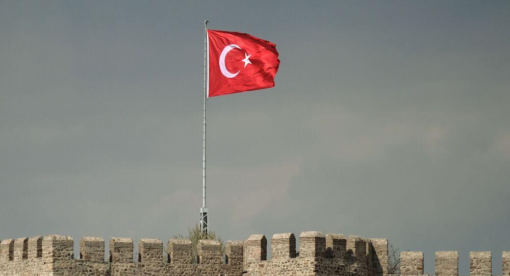 Bandiera turca ad Ankara