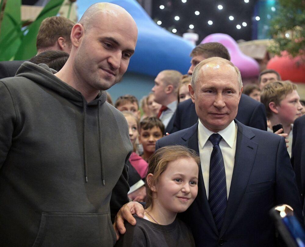 Il presidente russo Vladimir Putin all'apertura del parco Dream Island a Mosca, Russia
