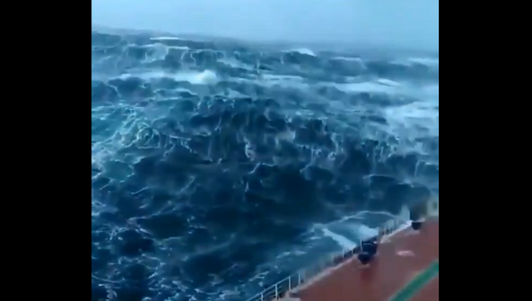 La forza della natura: nave affronta tempesta in mare - Sputnik Italia