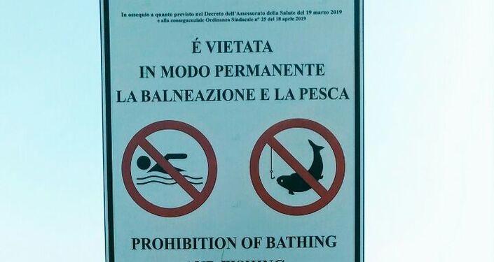 Divieto di balneazione e pesca a causa della contaminazione delle acque