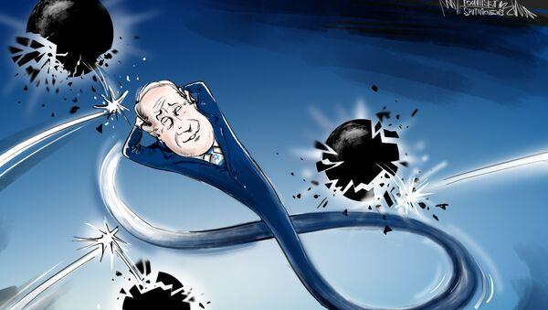 Il primo ministro israeliano, Benjamin Netanyahu, ha annunciato la vittoria alle elezioni generali. - Sputnik Italia