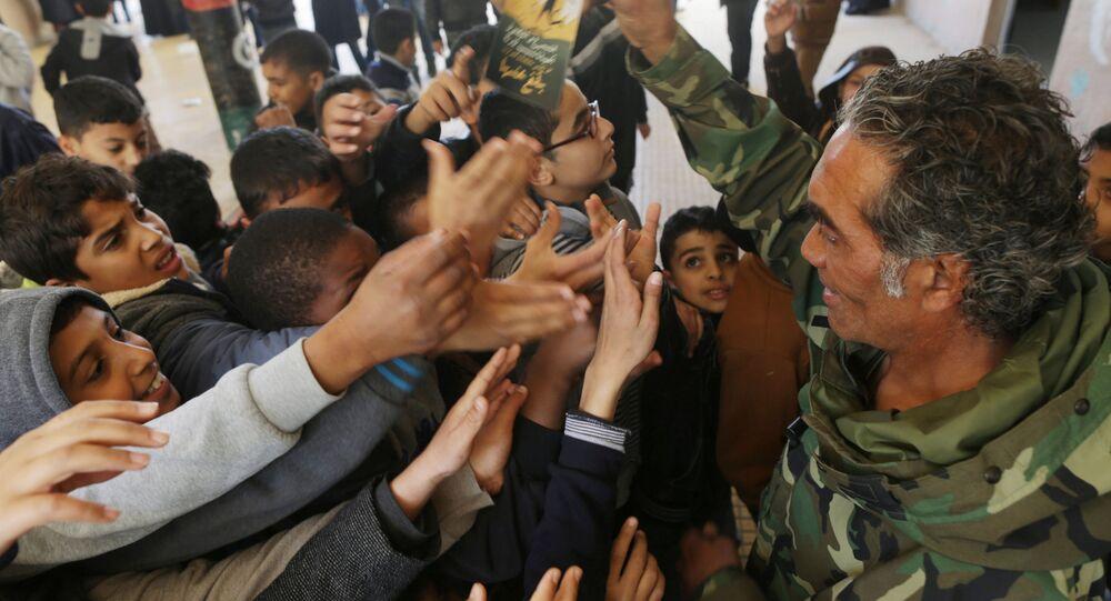 Bambini in Libia