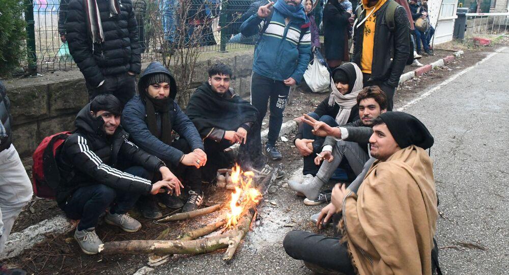 Rifugiati sulla frontiera tra Turchia e Grecia