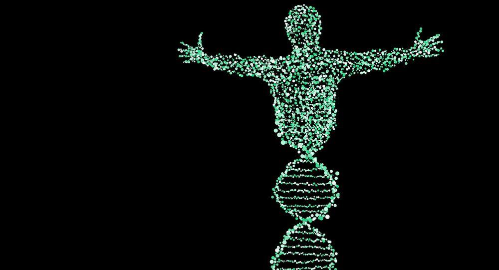 Illustrazione metaforica DNA umano